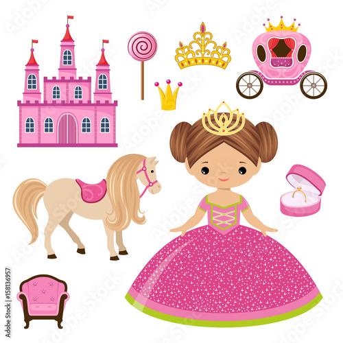 Mała księżniczka, zamek i powóz