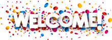 Welcome Banner With Colorful C...