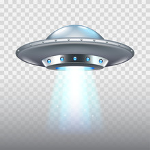 Ufo Flying Spaceship Isolated ...