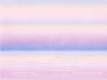 Abstract Watercolor Sunset At The Sea Background
