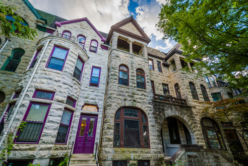 Photo Row houses in Bolton Hill, Baltimore, Maryland.