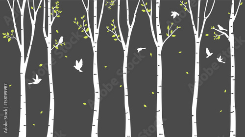 birch-tree-with-deer-and-birds-silhouette-background
