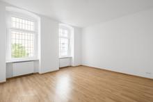 Empty Room, Wooden Floor In Ne...