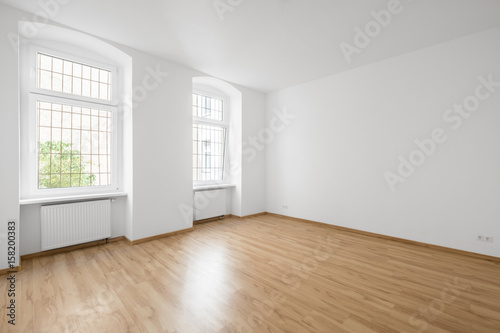 Empty Room Wooden Floor In New Apartment Buy This Stock Photo And