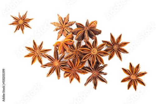 Star anise herb isolates on white back ground Wallpaper Mural