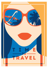 Time To Travel And Summer Camp Poster.