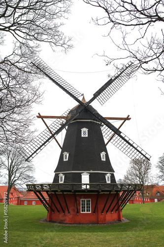 Photo  The mill in the Kastellet citadel in Copenhagen, Denmark