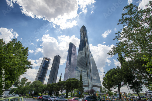 In de dag Madrid Four towers of Madrid Spain