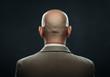 Leinwanddruck Bild - The back of a bald man in suit