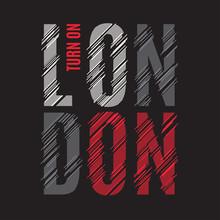 London Tee Print. T-shirt Design Graphics Stamp Label Typography