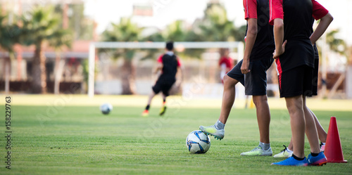 Fotografia, Obraz  Young Football Players Training