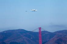 Space Shuttle Piggyback Over Golden Gate Bridge