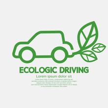 Ecologic Driving Concept Vecto...