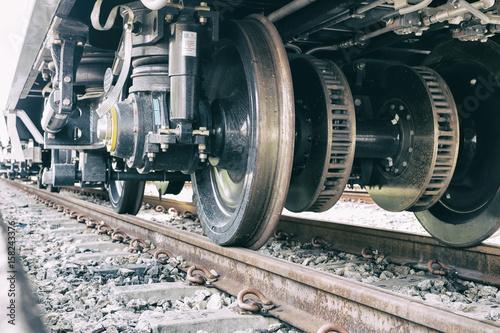 Wheel train Canvas Print