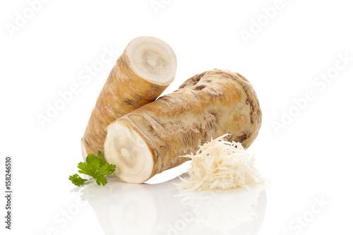 Horseradish root.