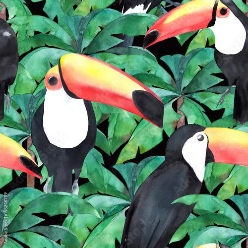 akwarela-bezszwowe-wzor-z-tropikalnych-ptakow-tukan-recznie-rysowane-ilust