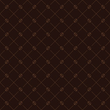 Seamless Vector Pattern. Modern Stylish Texture. Repetitive Geometric Tiles With Coffee Beans