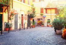 Typical Italian Street In Tras...