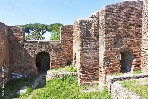 Foto op Aluminium Rudnes Glimpse in the archaeological site of Ostia Antica - Rome - Italy