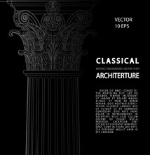 Classical Architecture. Backgr...