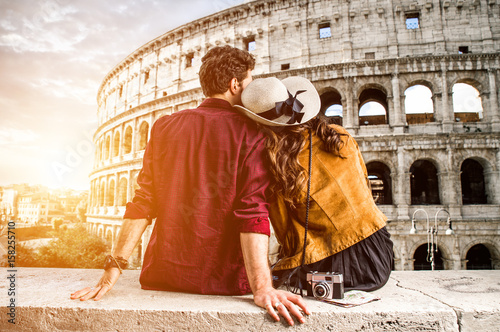 Foto op Plexiglas Rome Couple of tourist on vacation in Rome