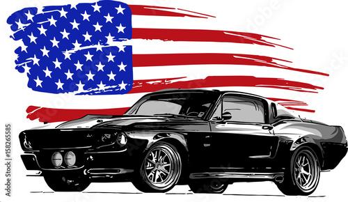 muscle car Fotobehang