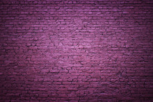Purple Brick Wall As A Backgro...
