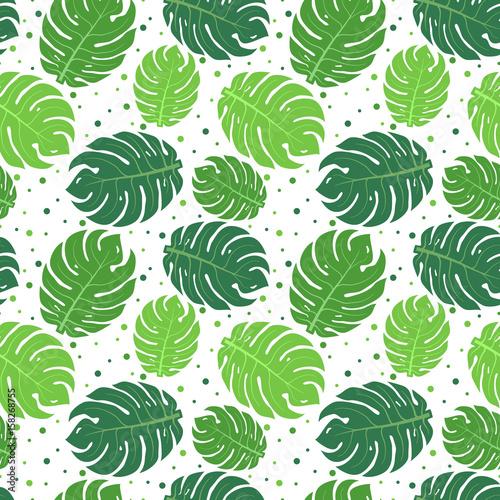 tropikalny-zielonych-lisci-wzor