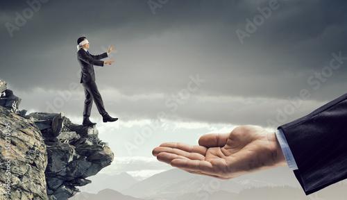 Photo  Leap of faith concept