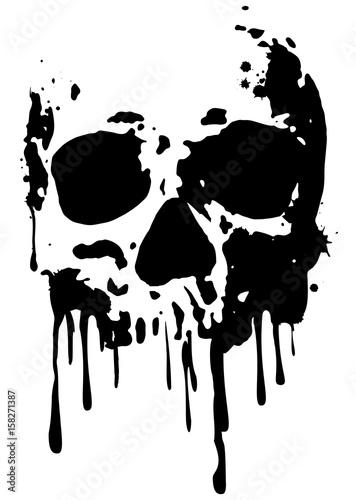 Canvas Print skull blood2
