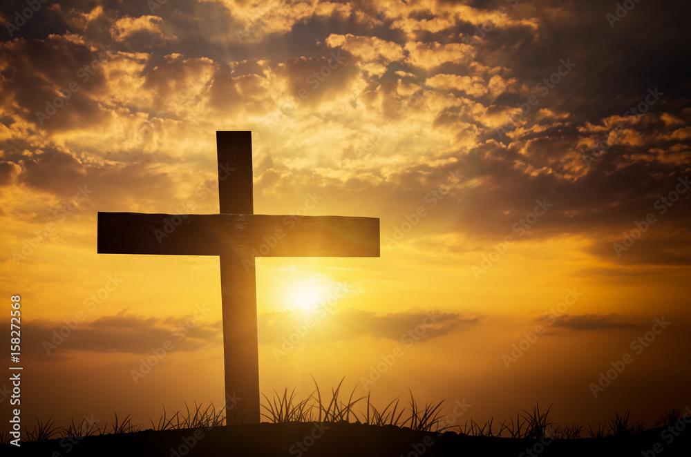Fototapeta Crucifix Blessing Lights