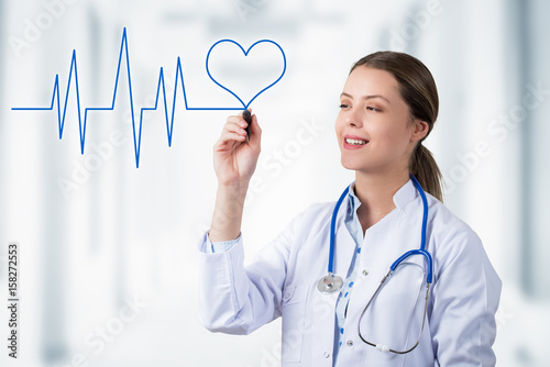 Photo Heart Line and Smiling Doctor