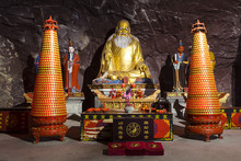 Wonderful Dao Statue In China Cave Monastery.