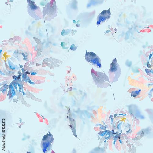 akwarela-kwiatowy-wzor-z-chryzantemami