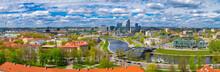 Panoramic View Of Vilnius Old ...