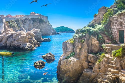 Fotografie, Tablou  Adriatic sea bay Dubrovnik