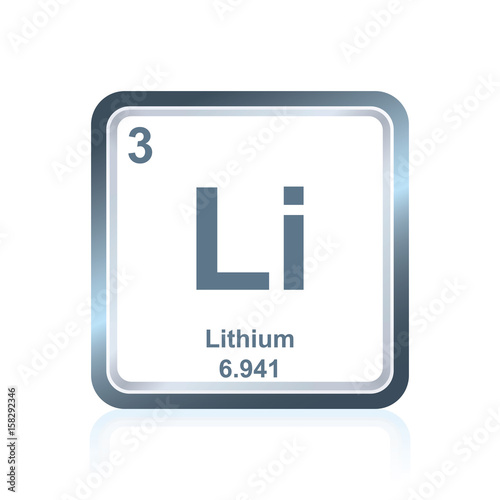 Symbol Of Chemical Element Lithium As Seen On The Periodic Table Of