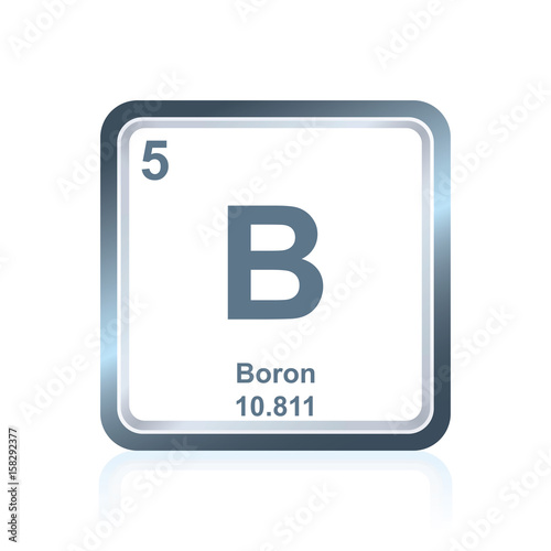 Symbol Of Chemical Element Boron As Seen On The Periodic Table Of