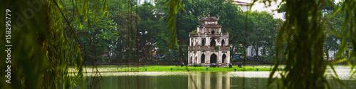 Hanoi, Vietnam. Turtle Tower at Hoan Kiem Lake