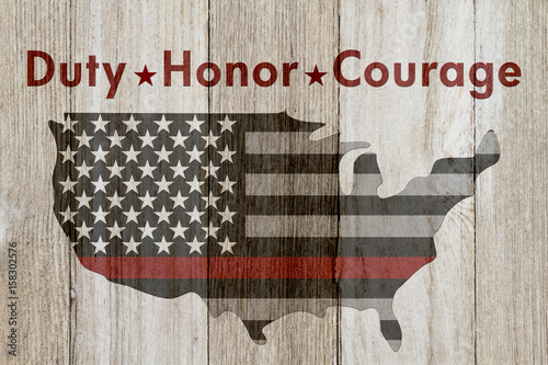Fotografie, Obraz  Duty Honor Courage message