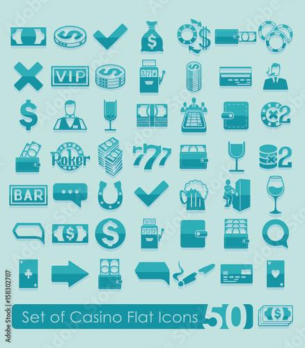 Fototapeta Set of casino icons obraz na płótnie