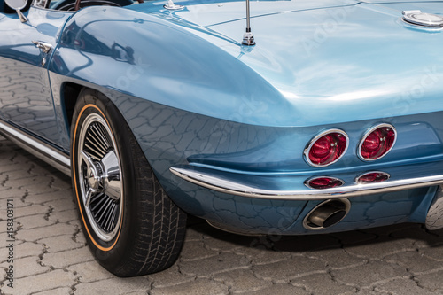 Papiers peints Vintage voitures Rear detail of US vintage car