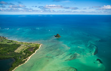 Aerial View Of China Hat. Oahu...