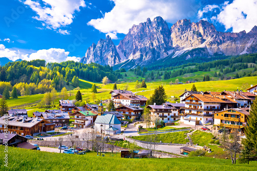 Alps landscape in Cortina D' Ampezzo Wallpaper Mural