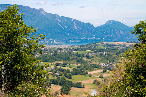 Lac du Bourget depuis Les Monts, Chambéry Canvas Print