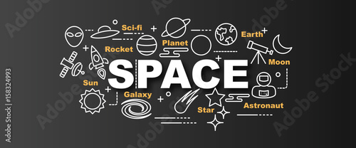 space vector trendy banner