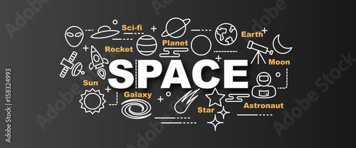space vector trendy banner