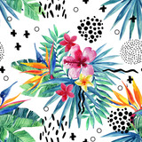 Abstract tropical summer seamless pattern. - 158325175
