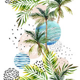 Abstract summer geometric background. - 158328949