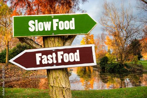 Photo Schild 201 - Slow Food